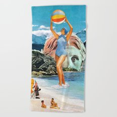 Poseidon in Love Beach Towel