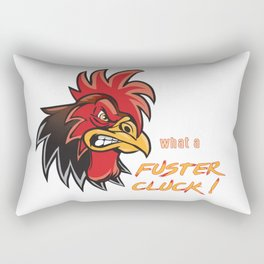 Angry Rooster Fuster Cluck Rectangular Pillow