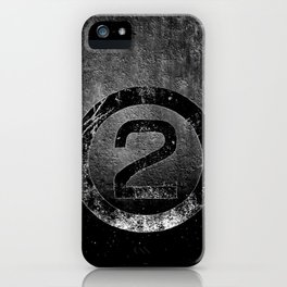 Bold Black and White 2 iPhone Case