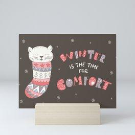 Winter Kitten Mini Art Print