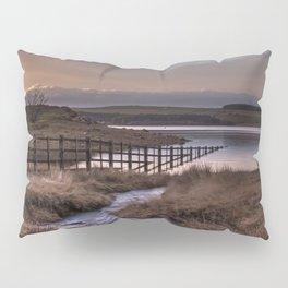Still waters at the Derwent Reservoir at sunset Pillow Sham