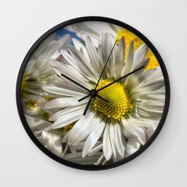 DAISY FLOWER &  DAISY FLOWER Wall Clock