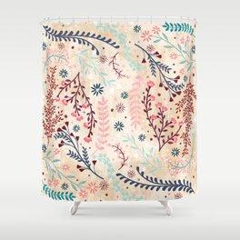 Chinese Flowery Fields Shower Curtain