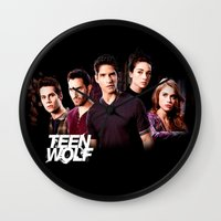 teen wolf Wall Clocks featuring teen wolf by kikabarros