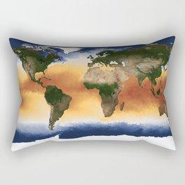 A Portrait of Global Sea Surface Temperatures Rectangular Pillow