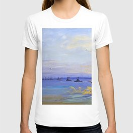 12,000pixel-500dpi - Sir John Lavery - The American Battle Squadron in the Firth of Forth T-shirt