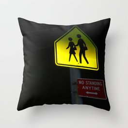 NO STANDING ANYTIME. Throw Pillow