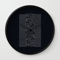 joy division Wall Clocks featuring Joy Division by Tobe Fonseca