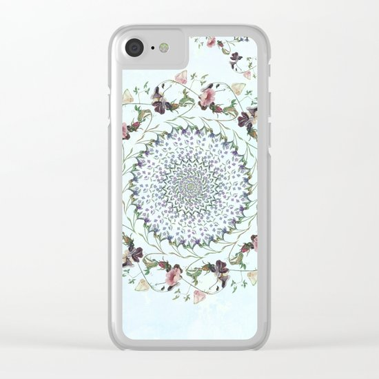 Floral fervour Clear iPhone Case