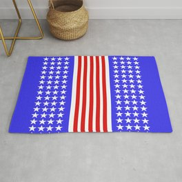 USA Flag Abstract Stars And Stripes Rug