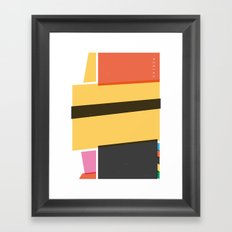 SECRET CYCLING FLAG - MERCKX Framed Art Print