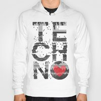 springsteen Hoodies featuring I love Techno by Sitchko Igor