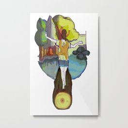 summer camp sloth Metal Print