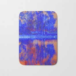 reflection of tree on water Bath Mat