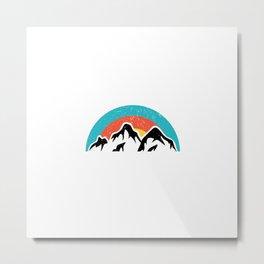 Mountains | Hiking Camping Climbing Sports Gift Metal Print