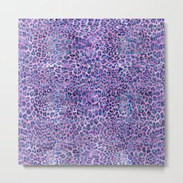 Purple Leopard Print Metal Print