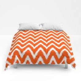 Vermillion Asian Moods Ikat Chevrons Comforters