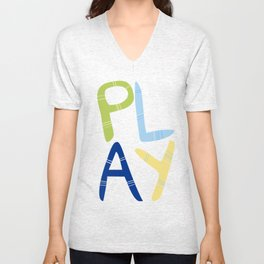 Play Nersery art Unisex V-Neck