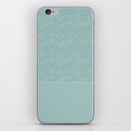 Warm , gray turquoise solid pattern . iPhone Skin