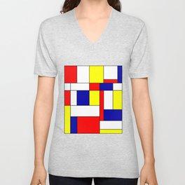 Mondrian #34 Unisex V-Neck