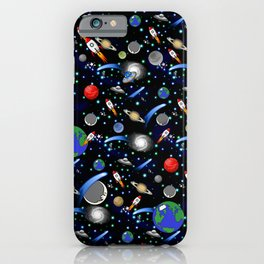 Galaxy Universe - Planets, Stars, Comets, Rockets iPhone Case
