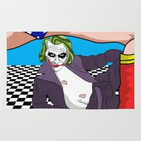 heroes Area & Throw Rugs featuring super heroes by mark ashkenazi