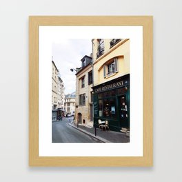 Cafe Restaurant Framed Art Print