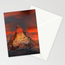 Mountain Matterhorn Switzerland Stationery Cards