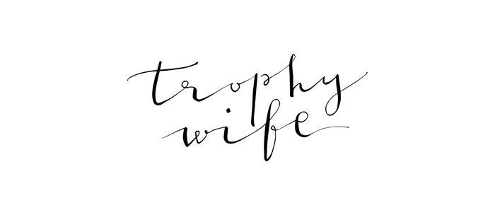 Trophy Wife Modern Calligraphy Coffee Mug