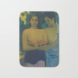 Paul Gauguin - Two Tahitian Women (1899) Bath Mat