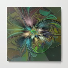 Colorful Abstract Fractal Art Metal Print