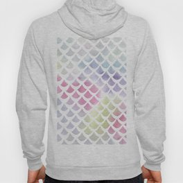 Watercolor fish scale pattern Hoody