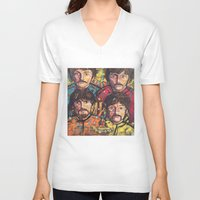 yellow submarine V-neck T-shirts featuring Yellow Submarine by somanypossibilities