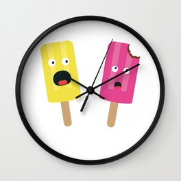 Colorful Popsicles Wall Clock