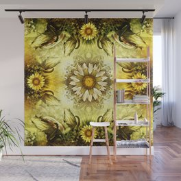 """Victorian Garden Spring Flowers"" Wall Mural"