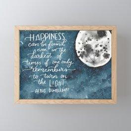 Dumbledore Moon Framed Mini Art Print