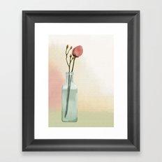 Flowers in Glass Framed Art Print