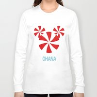 ohana Long Sleeve T-shirts featuring Ohana Mickey by KaylaMessies