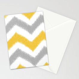 Chevron IKAT Stationery Cards