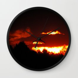 Sunset in Bieliczna 2 Wall Clock