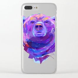 Grizzly bear (Animal set) Clear iPhone Case
