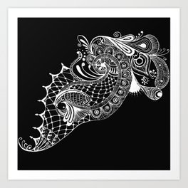 Black Tie Peacock Art Print