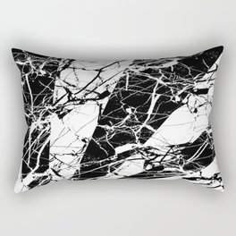 Rays Of Marble - Black and White, marble textured, abstract art Rectangular Pillow
