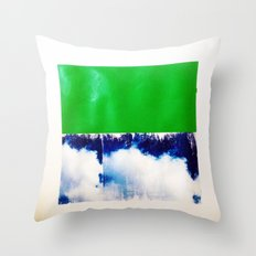 SKY/GRN Throw Pillow
