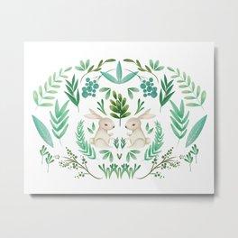 woodland rabbit Metal Print