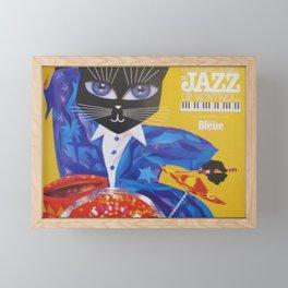 1994 Montreal Jazz Festival Cool Cat Poster No. 3 Gig Advertisement Framed Mini Art Print