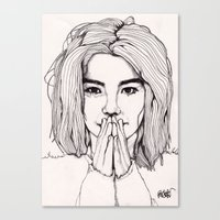 bjork Canvas Prints featuring Bjork by Paul Nelson-Esch Art