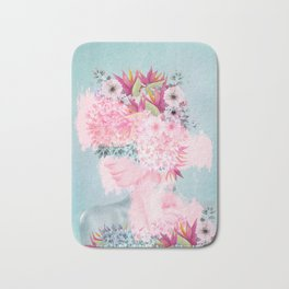 Woman in flowers II Bath Mat
