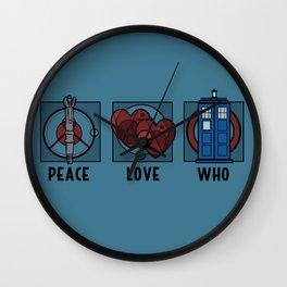 Peace, Love, Who Wall Clock
