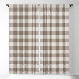 Buffalo Check Beige Cream Ivory Gingham Blackout Curtain